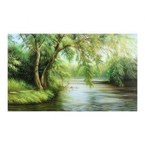 "Картина на холсте ""Склонившись над рекой"""