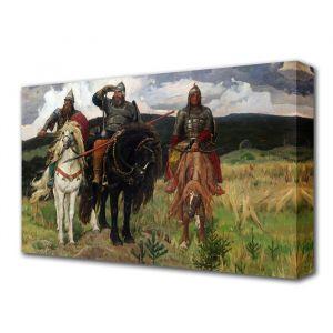 """Картина на холсте """"Три богатыря"""""""