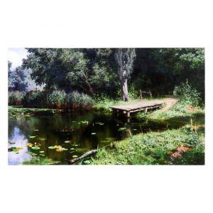 """Картина-холст на подрамнике """"Лесной мостик"""" 60х100 см   4720961"""