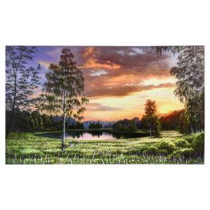 "Картина-холст на подрамнике ""Летний закат"" 60х100 см   4720930"