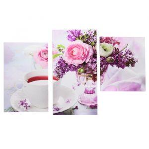 """Модульная картина на подрамнике """"Утренний чай"""", 30?35, 30?46, 30?56 см, 90?56 см"""