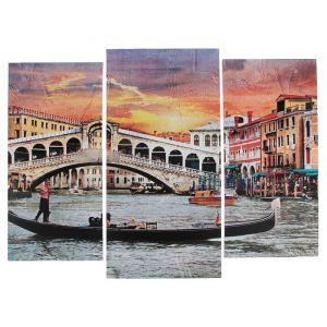 "Модульная картина ""Венецианская гондола""  (2-25х52; 1-30х60) 60х80 см   3981627"