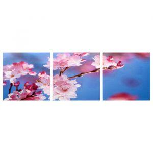 """Модульная картина """"Веточка вишни"""" (3-35х35) 35х105 см 4983616"""