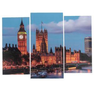 "Модульная картина ""Вечерний Лондон""  (2-25х52; 1-30х60) 60х80 см   3981624"