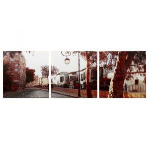 """Модульная картина """"Городская улица"""" (3-35х35) 35х105 см 4983605"""