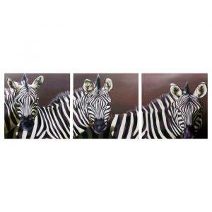 """Модульная картина """"Зебры"""" (3-35х35) 35х105 см 4983600"""