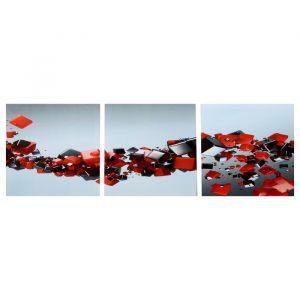 "Модульная картина ""Иллюзия объёма"" (3-35х35) 35х105 см 4983624"