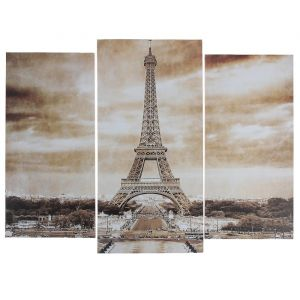 """Модульная картина """"Ретро Париж""""  (2-25х52; 1-30х60) 60х80 см   3981628"""