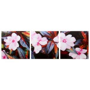 """Модульная картина """"Розовый цвет"""" (3-35х35) 35х105 см 4983632"""