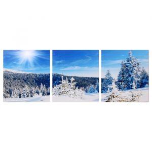 """Модульная картина """"Снежный склон"""" (3-35х35) 35х105 см 4983595"""