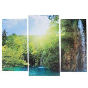 """Модульная картина """"Солнечный водопад""""  (2-25х52; 1-30х60) 60х80 см   3981586"""