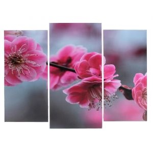 """Модульная картина """"Цветы сакуры""""  (2-25х52; 1-30х60) 60х80 см   3981602"""