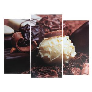 "Модульная картина ""Шоколадное удовольствие""  (2-25х52; 1-30х60) 60х80 см   3981592"