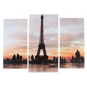 """Модульная картина """"Эйфелева башня""""  (2-25х52; 1-30х60) 60х80 см   3981618"""