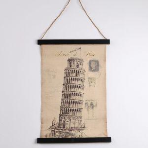 Панно подвесное «Пизанская башня», прямоугольное, 44х63 см 2723560