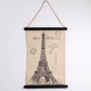 Панно подвесное «Эйфелева башня», прямоугольное, 44х63 см 2723559
