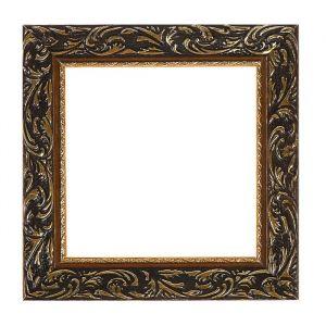 Рама для зеркал и картин из дерева, 20 х 20 х 4.0 см, цвет золотой