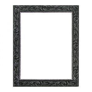 Рама для зеркал и картин из дерева, 30 х 40 х 4 см, цвет чёрный с серебром