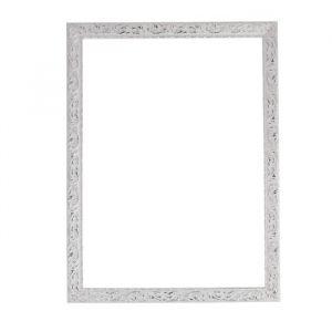 Рама для зеркал и картин из дерева, 50 х 70 х 4 см, цвет бело-серебристый