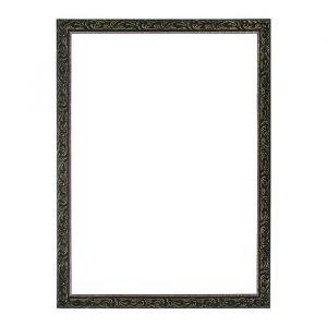 Рама для зеркал и картин из дерева, 60 х 80 х 4 см, цвет чёрный с золотом