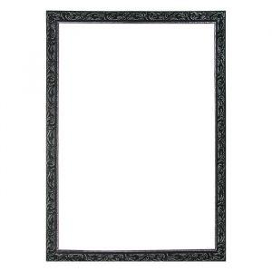 Рама для зеркал и картин из дерева, 60 х 80 х 4 см, цвет чёрный с серебром