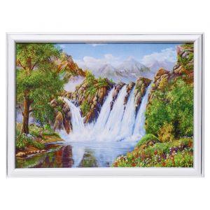 """Картина """"Водопады в лесу"""" 25х35 см (28х38см)  4832462"""