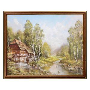 """Картина """"Дом у реки"""" 28х38 см   4670705"""
