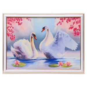 """Картина """"Лебеди в лилиях"""" 25х35 см (28х38см)  4832485"""