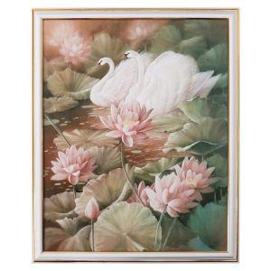 """Картина """"Лебеди в лилиях"""" 28х38 см   4670700"""