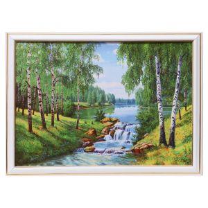 """Картина """"Лесной водопадик"""" 25х35 см (28х38 см)  4832457"""