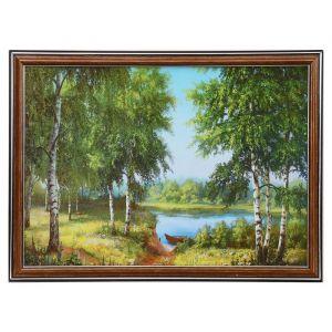 """Картина """"Лодочка у озера"""" 25х35 см (28х38см)  4832448"""