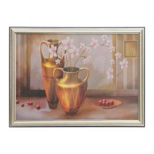 """Картина """"Розовые цветы в вазе"""" 28*38 см МИКС   2993178"""