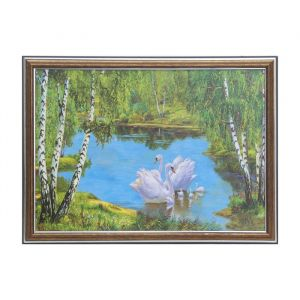 """Картина """"Семья лебедей"""" 28*38 см   3865472"""