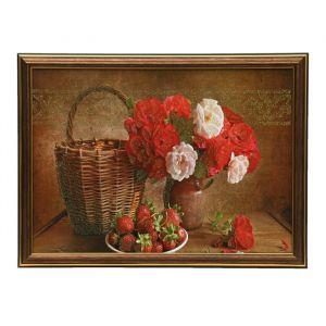 """Картина """"Цветы и корзина"""" 28х38 см   4008923"""
