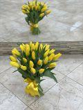 Букет из 25 тюльпанов жёлтых