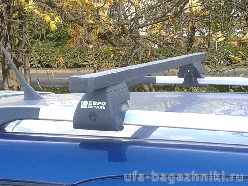Багажник на крышу - стальные прямоугольные дуги на рейлинги Chery Indis, Евродеталь