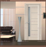 Межкомнатная дверь PREMIER 3 SoftTouch структурный Ясень капучино, стекло - Мателюкс :