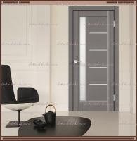 Межкомнатная дверь PREMIER 3 SoftTouch структурный Ясень грей, стекло - ЛАКОБЕЛЬ Белое :