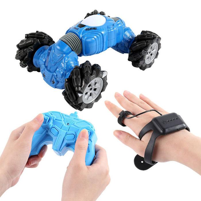 Машинка - перевёртыш с управлением жестами Champions Climber, 32 см, Цвет Синий