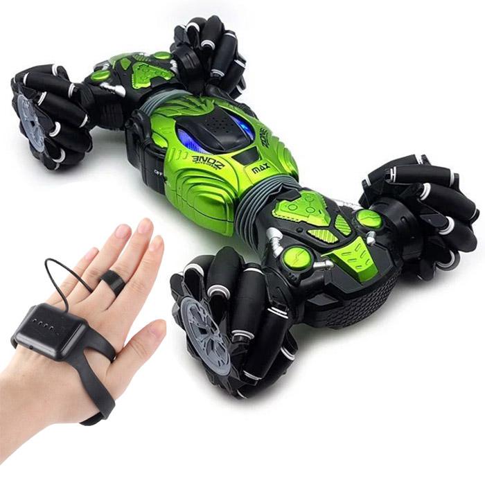 Машинка - перевёртыш с управлением жестами Champions Climber MAX, 40 см, Цвет Зеленый