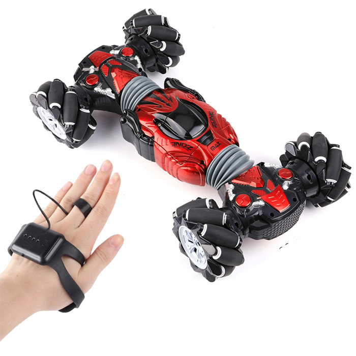Машинка - перевёртыш с управлением жестами Champions Climber MAX, 40 см, Цвет Красный