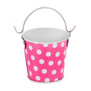 Ведерко малое «Горох», цвет розовый