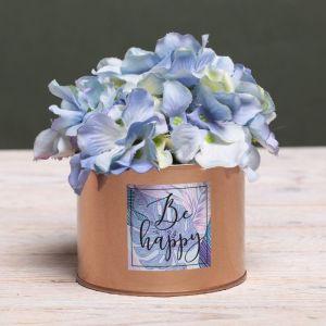 Металлическое кашпо для цветов Be happy, 10 ? 7.5 см