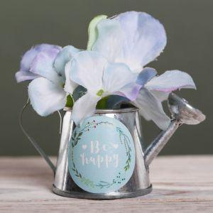 Металлическое кашпо для цветов Be happy, 6 ? 5 см