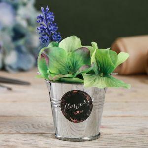 Металлическое кашпо для цветов Flowers 5,5 ? 5,5 см