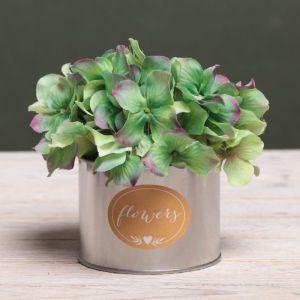 Металлическое кашпо для цветов Flowers, 10 ? 7.5 см