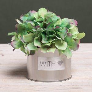 Металлическое кашпо для цветов With love, 10 ? 7.5 см