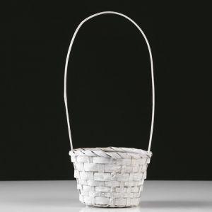Корзина плетеная, бамбук, D13xH9.5/28 см, серый 4821944