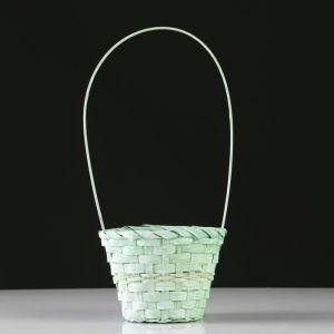 Корзина плетеная, бамбук, D14.5 см, зеленый 4821945