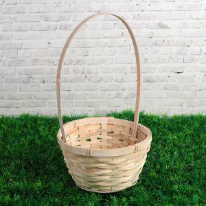 Корзина плетеная, бамбук, D17/H10,5/HH33, белая 3823262